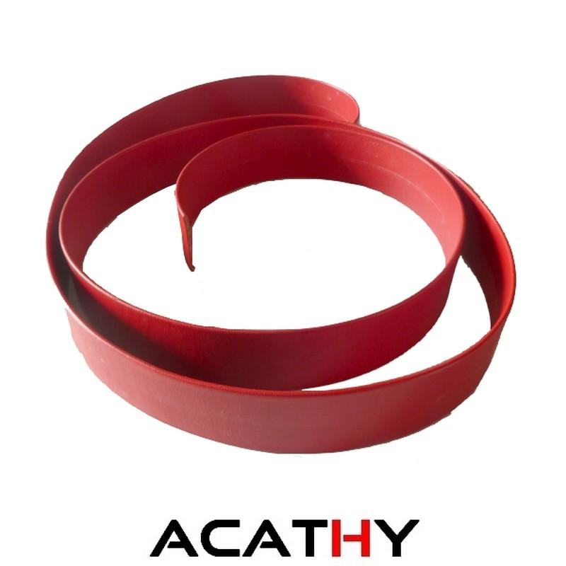 Portefeuille en cuir QUIMPER rouge