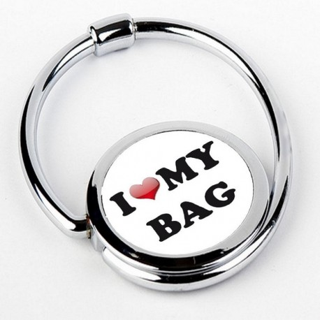 Accroche sac pliable I LOVE MY BAG