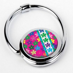 P03 Accroche sac pliable FLEURS multicolores